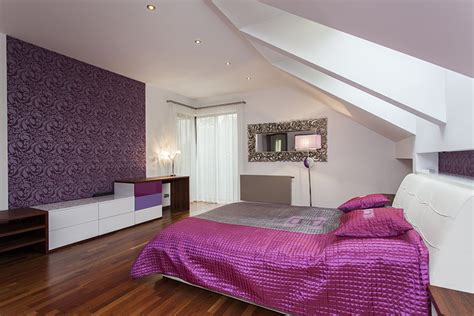 Loft Bedroom Feature Wall by 25 Gorgeous Purple Bedroom Ideas Designing Idea