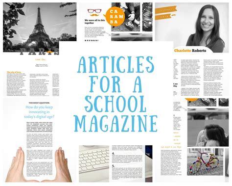 Student Articles for School Magazine - Jilster - Samen een ...
