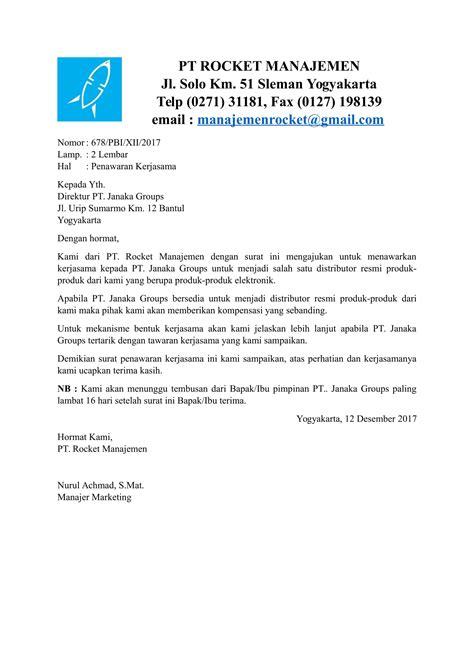 contoh surat mou kontrak kerjasama terbaru