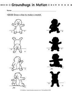 free printable animal shadow match worksheets worksheets 634 | 742d6391f399e542510db63f79b227de groundhog day activities preschool groundhog