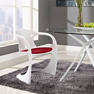 Minimalist, Modern, Design, Plastic, Dining, Chair, With, Cushion, Dining, Furniture, Padded, Chairs, Soft