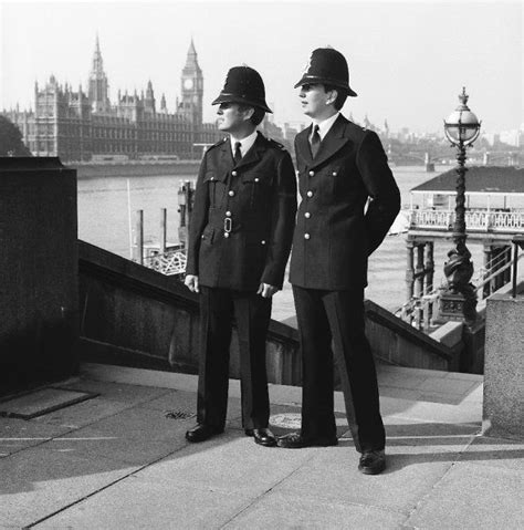 police officers london police officers wearing old and new uniforms media storehouse