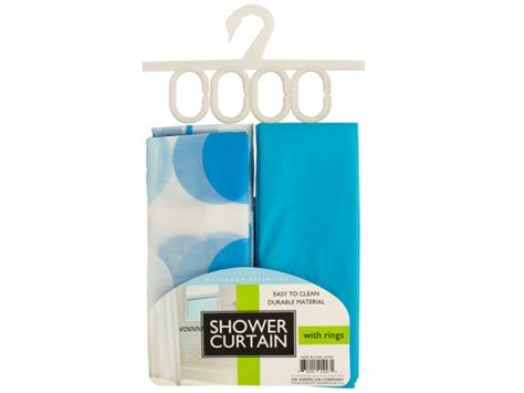 wholesale shower curtain with liner rings set bulk
