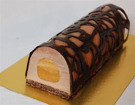 cours de cuisine avec un grand chef bûche de noël yuzu chocolat biscuit feuilletine à la