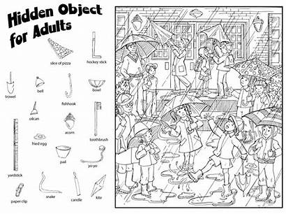 Hidden Printable Object Halloween Adult Worksheets Objects