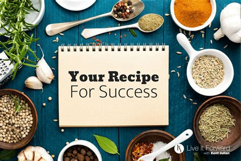 recipe  success  essential ingredients  true success