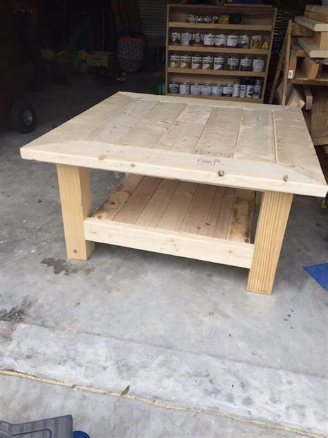 square coffee table  planked top  diy plans coffee table plans table plans  rogues