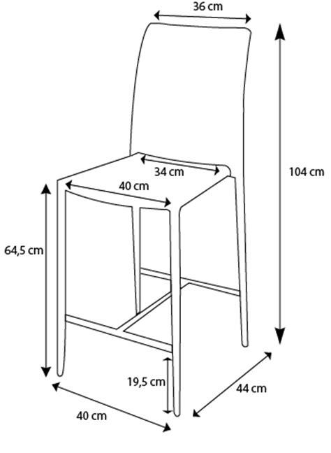 Mesure D Une Chaise by Chaise 224 Hauteur R 233 Glable Design Lenibi Mobilier Moss