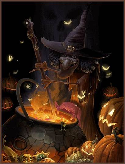 Witch Halloween Cauldron Gifs Spooky Brew Dreamies