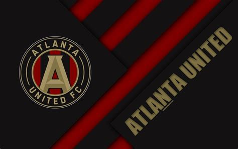 Download wallpapers Atlanta United FC, material design, 4k ...