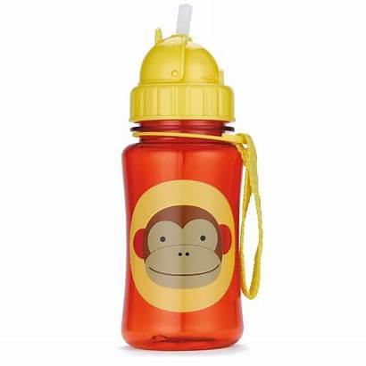 Bottle Water Clipart Bottles Straw Cup Kid