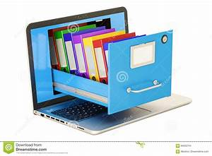 Stockage De Données : stockage de donn es d 39 ordinateur portable carnet avec des dossiers dans le meuble d 39 archivage ~ Medecine-chirurgie-esthetiques.com Avis de Voitures