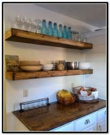Kitchen with Floating Shelves DIY