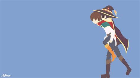 Megumin Animated Wallpaper - kazuma and megumin konosuba minimal wallpaper by max028