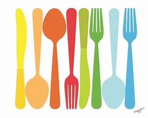 Art for Kitchen - Spoon Fork Knife. $20.00, via Etsy ...
