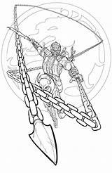Mortal Kombat Coloring Scorpion Stryker Worksheets K5worksheets Printable K5 Template sketch template