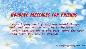 Saying Goodbye to a Friend - Farewell Quotes for Friends