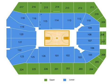 xfinity center md seating chart