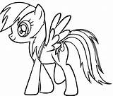 Coloring Rainbow Dash Printable Pages sketch template