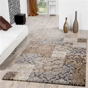 Teppich Grau Beige : moderner teppich wohnzimmer barock design ornamente meliert in beige grau moderne teppiche ~ Indierocktalk.com Haus und Dekorationen