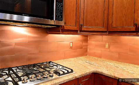 copper kitchen backsplash ideas copper color large subway backsplash backsplash com