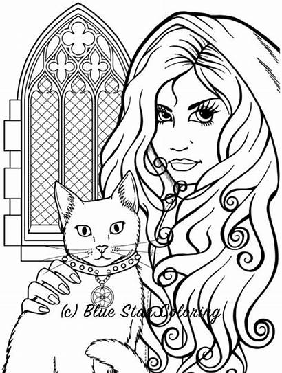 Coloring Gothic Halloween Adults Adult Pages Books