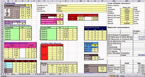 Spreadsheet For Estimating   Cost Estimating Sheets
