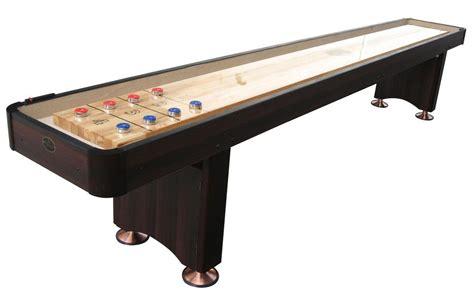 a shuffleboard table 9 espresso playcraft woodbridge shuffleboard table 7337
