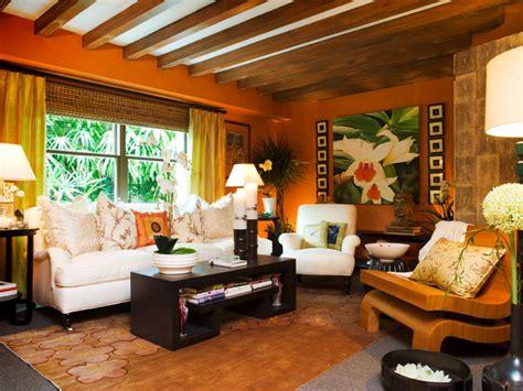 19+ Orange Living Room Designs, Decorating Ideas Design
