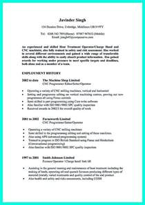 Cnc Resume by Writing Your Qualifications In Cnc Machinist Resume A Must