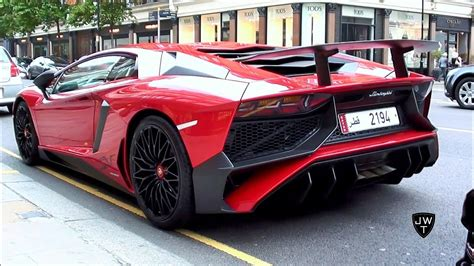 lamborghini aventador sv roadster 458 speciale start up launch control fast acceleration lamborghini aventador lp750 4 superveloce in london start up sound driving youtube