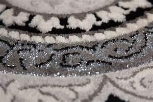 Teppich Mit Glitzer : lalee 347170449 designer teppich muster kreise schwarz silber 3d konturen glitzer edel gr sse ~ Frokenaadalensverden.com Haus und Dekorationen