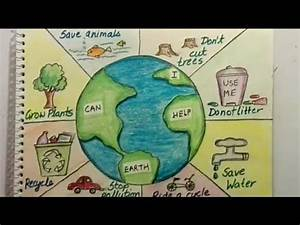 Save Earth Poster Tutorial For Kids
