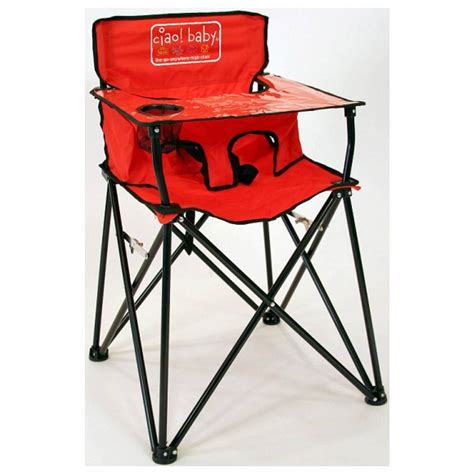 ciao baby red portable go anywhere high chair join the