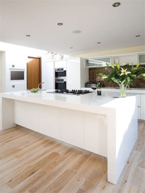Wooden Kitchen Flooring Ideas by Sink On The Wall Bench Stove Top On The Island Bench