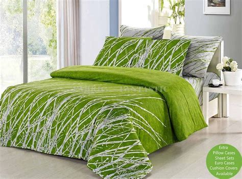 King Sized Duvet by Green Tree King Size Bed Duvet Doona Quilt Cover Set