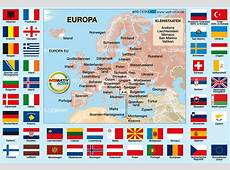 Map of Flags Europe Theme Maps in 48 Countries Welt