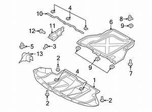 2000 Audi A6 Radiator Support Splash Shield  Rear   Liter