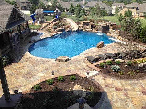 custom moss rock pool