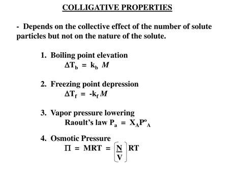 Ppt  Colligative Properties Powerpoint Presentation Id383808
