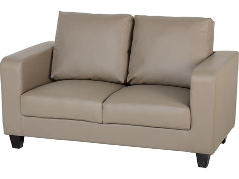 seconique tempo  seater sofa   box taupe faux