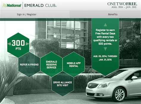 Register For National Emerald Club One Two Free