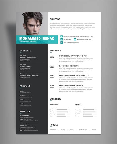 Modern Resume Template Free by Template New Modern Cv Template Modern Cv Template