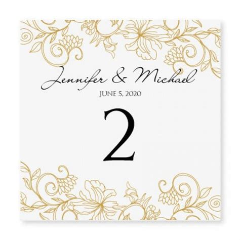 wedding table numbers template instant wedding table number card template vintage bouquet gold foldover