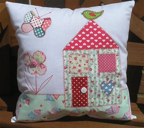 applique ideal easy sewing kit applique house cushion ideal beginner all