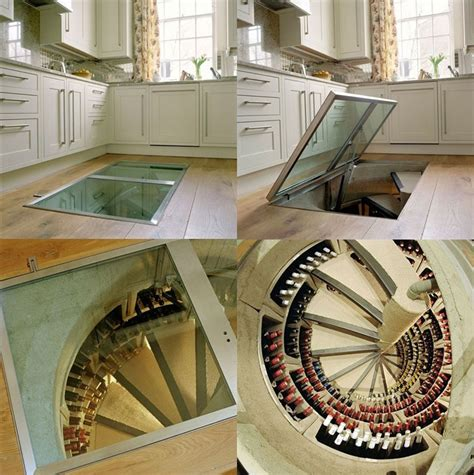 spiral wine cellar in kitchen floor a wine cellar for any room in your house 9374