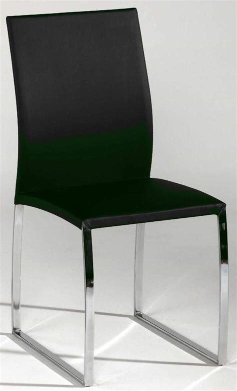 black or taupe leather dining chair with brilliant chrome