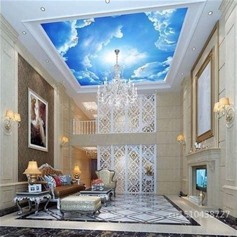 pas cher photo papier peint nuages ciel bleu et blanc papier peint int 233 rieur haut de plafond