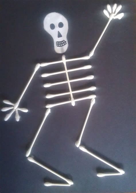 q tip skeleton craft for woo jr 124 | Q Tip Skeleton Man