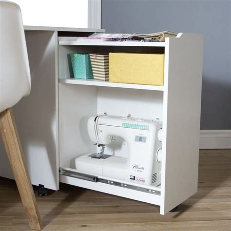craft table on wheels south shore crea sewing craft table on wheels in pure